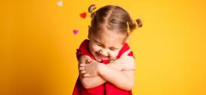 little girl self hug